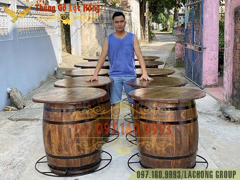thùng gỗ sồi ngâm rượu