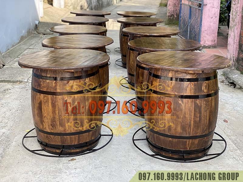trống gỗ đựng rượu vang