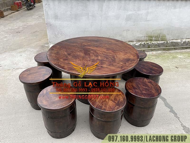 thùng gỗ thông trang trí