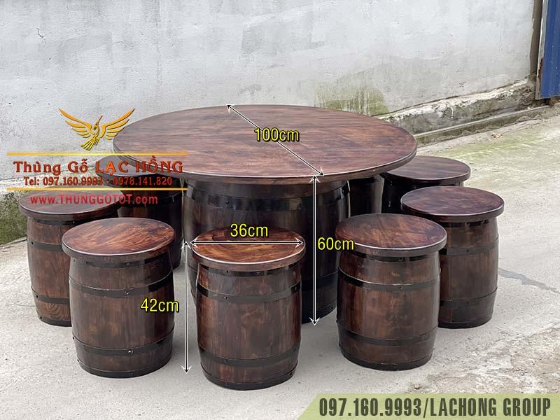 thùng rượu vang gỗ