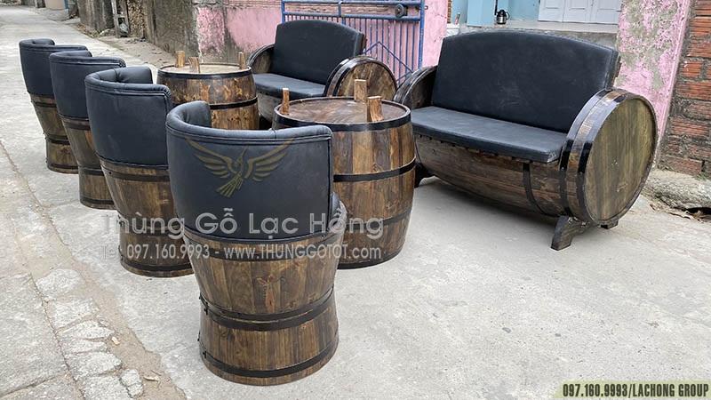 bán thùng gỗ trang trí tại hà nội