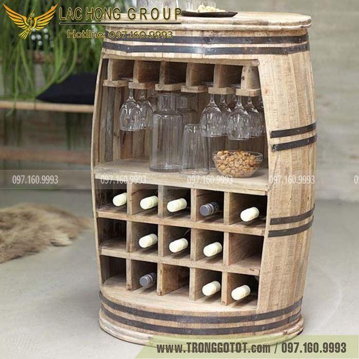 thùng gỗ để rượu vang