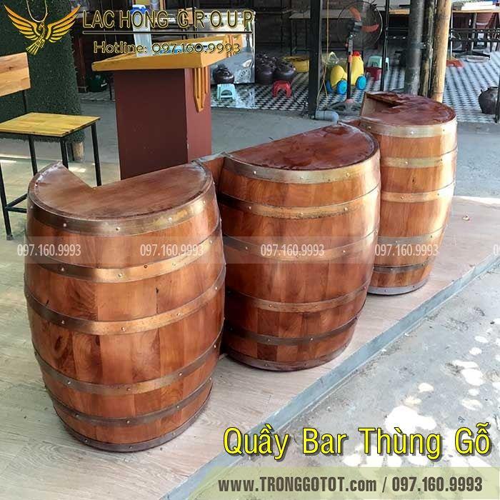 bán thùng gỗ trang trí