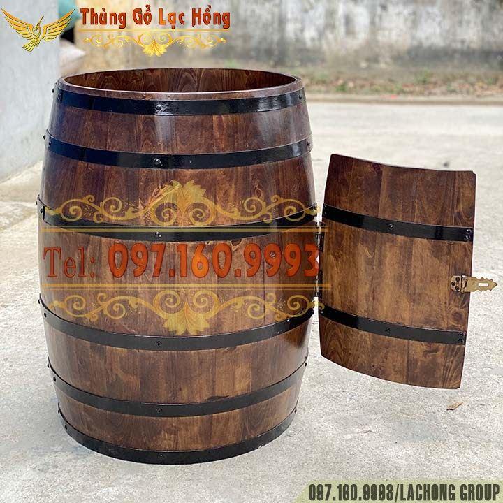 bán thùng gỗ bày rượu vang
