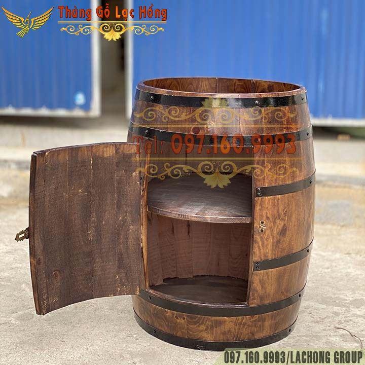 thùng gỗ sồi trang trí tiệc