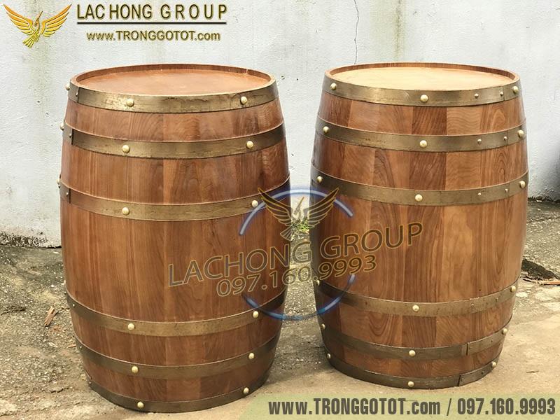 thùng gỗ đựng rượu giá rẻ