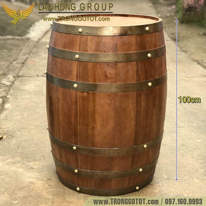 thùng gỗ ngâm rượu vang