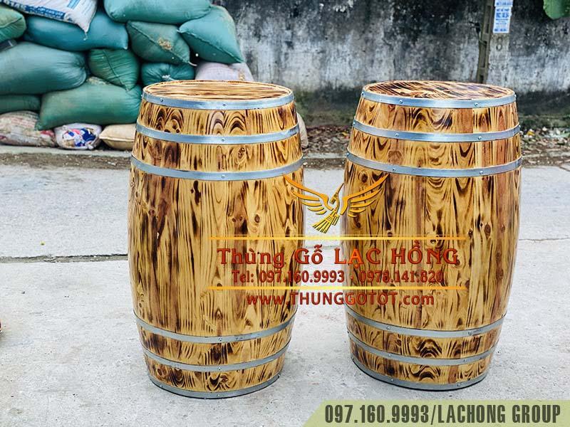 bán thùng gỗ rượu vang