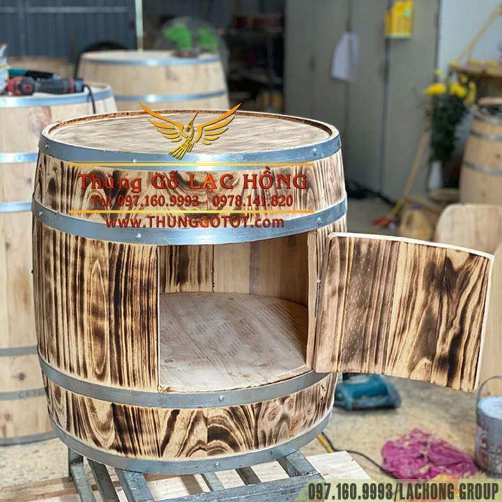 thùng gỗ rượu vang đẹp