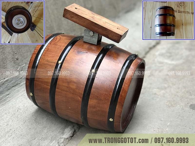 đèn bằng thùng gỗ sồ