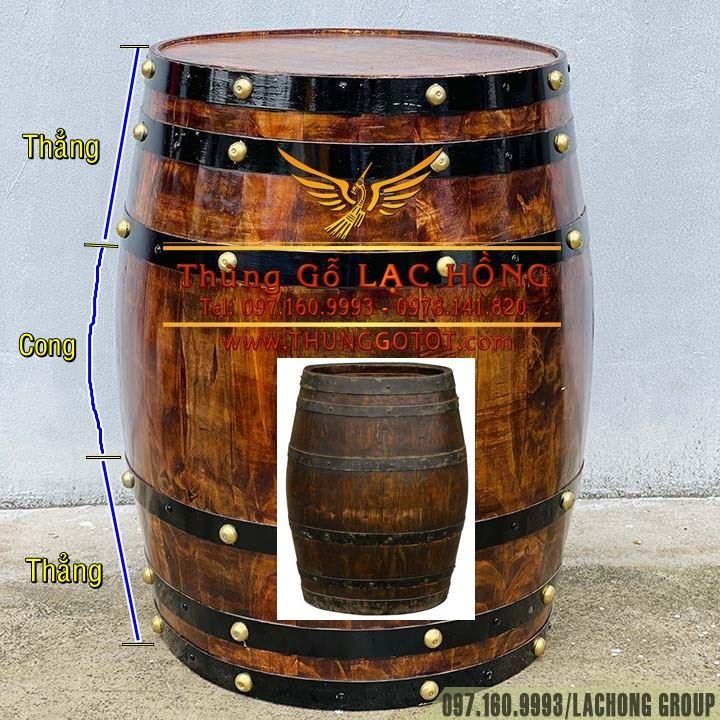 thùng rượu gỗ trang trí