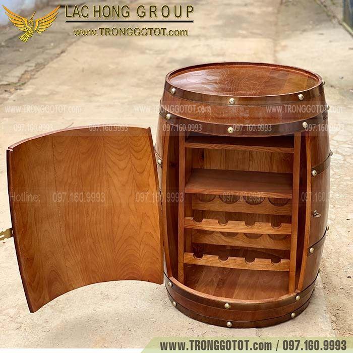 tủ rượu thùng gỗ sồi