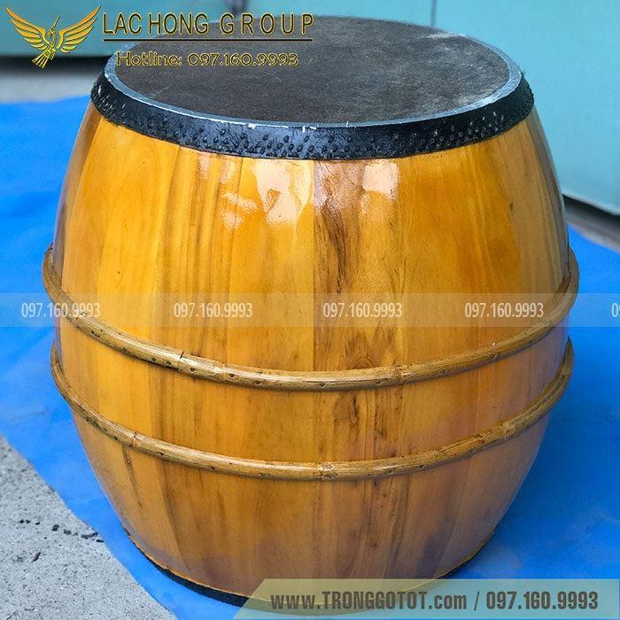 trống gỗ mít da trâu