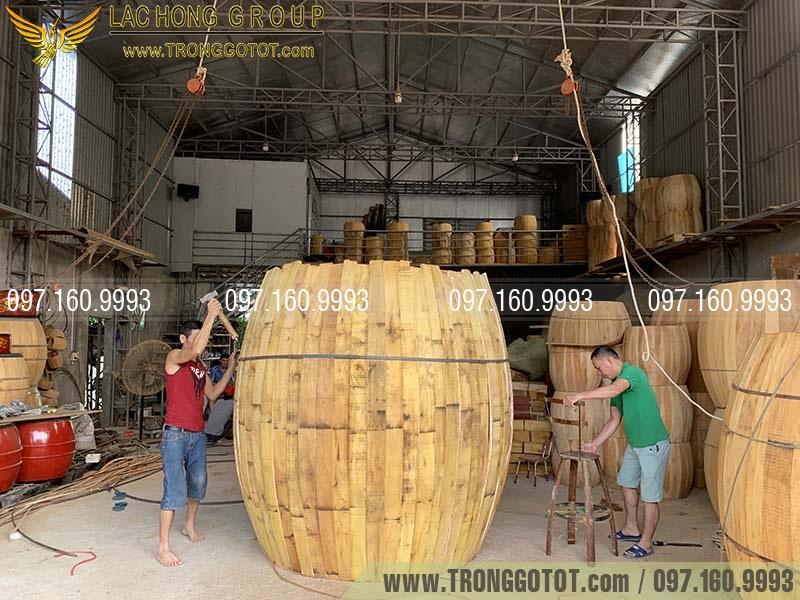 bán trống gỗ mặt 2 mét